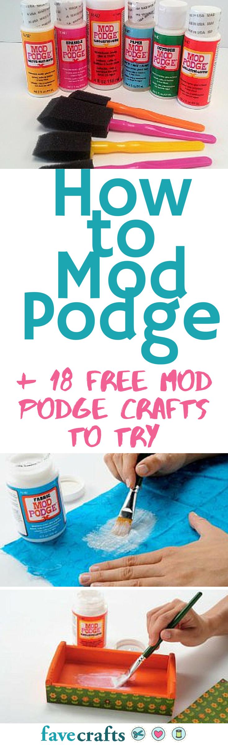 Mod Podge Basics + 28 Mod Podge Crafts   Pinterest   Flor, Bricolaje ...