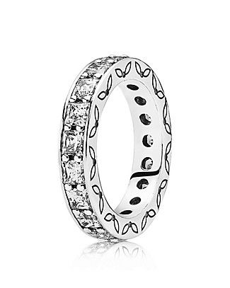 Fashion Infinity Clear Cubic Zirconia Sterling Silver Ring