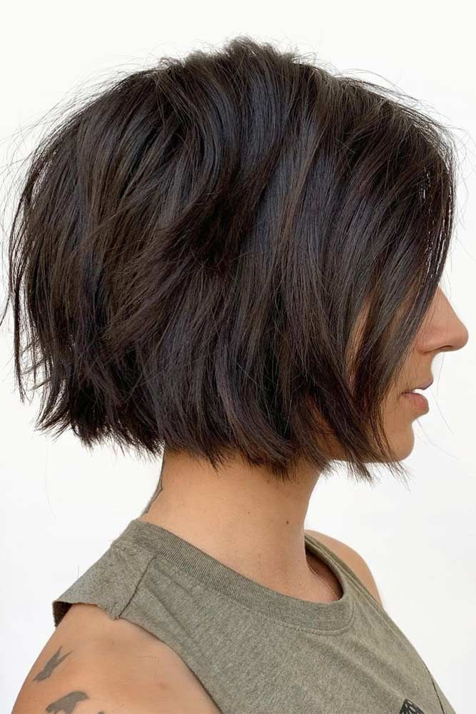 24 Fantastic Choppy Bob Hairstyles For All Moods And Occasions #shortlayeredhairstyles
