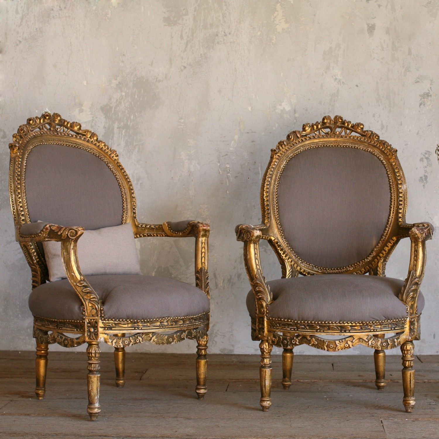 Muebles Antiguos Luis Xv Beautiful Gold Gilt Pair Of Armchairs Home Muebles