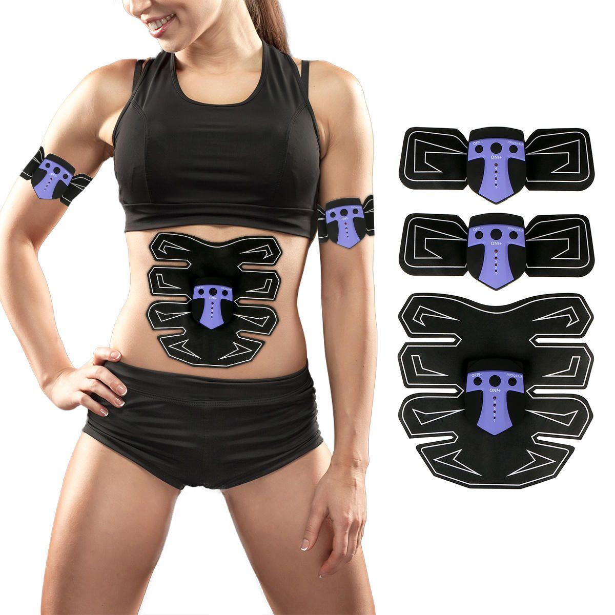 Us 19 99 Abdomen Arm Muscle Ems Training Gear Black Technology Electrical Body Shape Trainer Abdomen Muscle Training Arm Muscles Training Gear Toned Abs