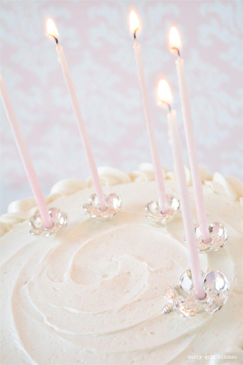 White Cake Velvet Wedding Silver Candle Holders Topper