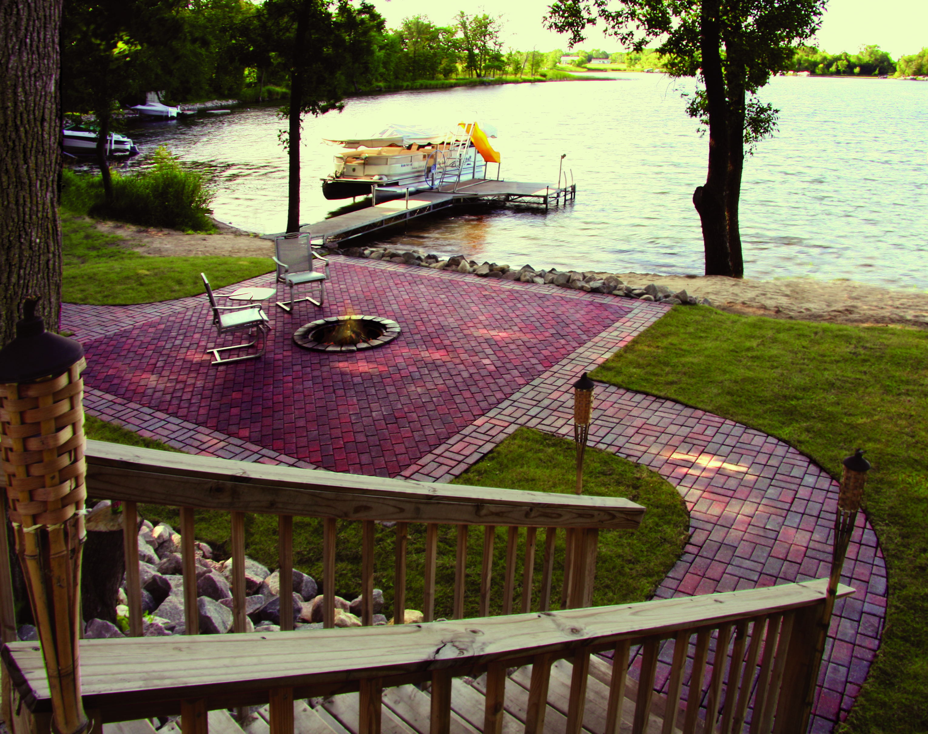 a great patio for relaxing or having a bonfire http www menards