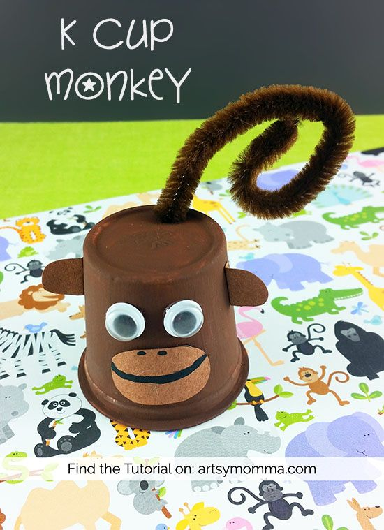 Exceptional Monkey Crafts For Kids Part - 9: Recycled K Cup Monkey Craft For Kids