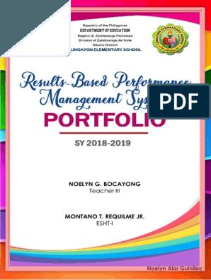 Rpms Portfolio Cover Nhoe Docx Teaching Portfolio Teacher Portfolio Portfolio Covers
