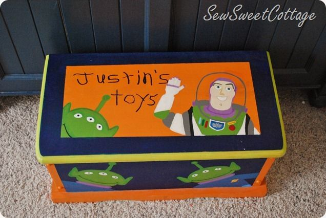 Sew Sweet Cottage Toy Story Toy Box Toy Story Room Painted Toy Boxes Toy Boxes