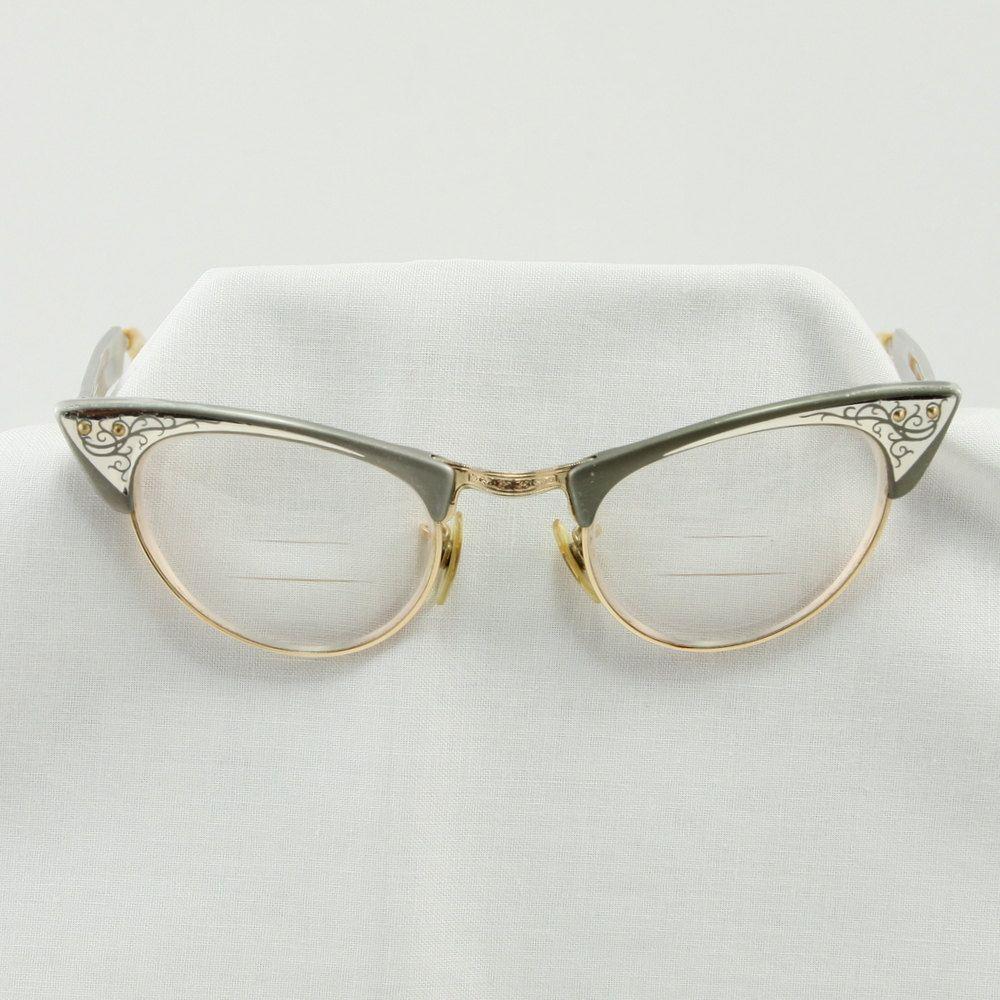 Vintage Shuron Cats Eye 1950 s Aluminum Glasses Frames via Etsy ...