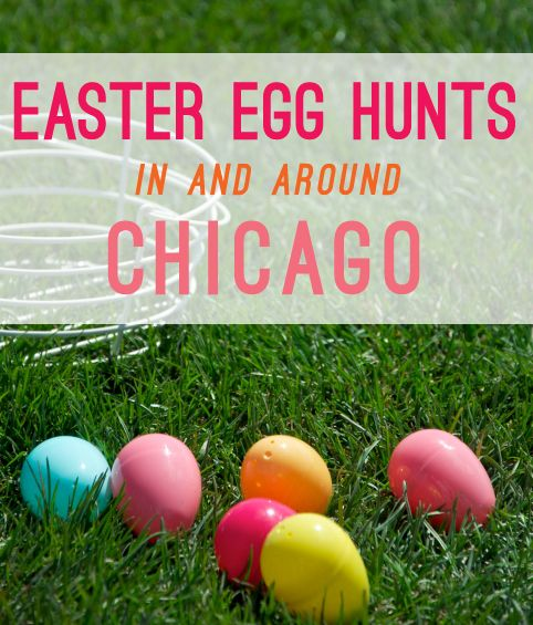 Dozens of Easter egg hunts in and around Chicago. #Chicago #Easter