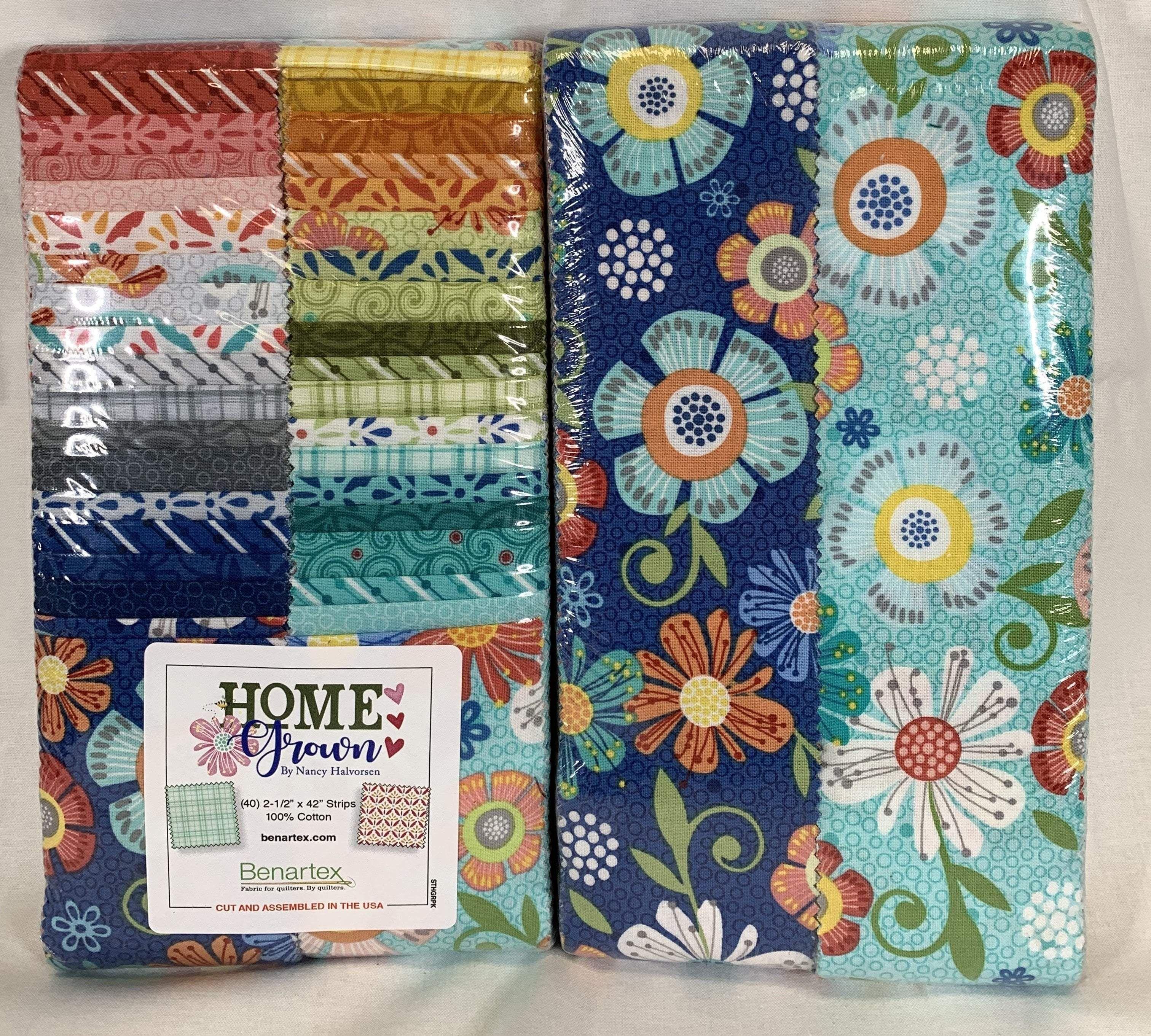 Benartex Home Grown Floral Aqua Cotton Quilting Craft Fabric