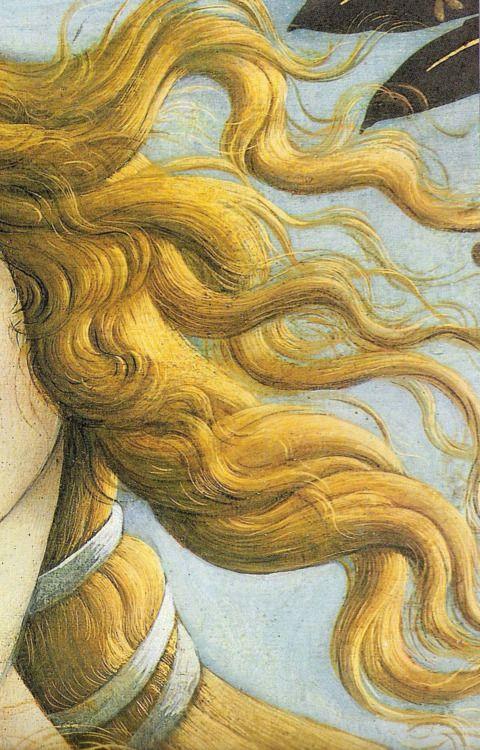 El Nacimiento De Venus Detalle Boticelli 1486 Peinture