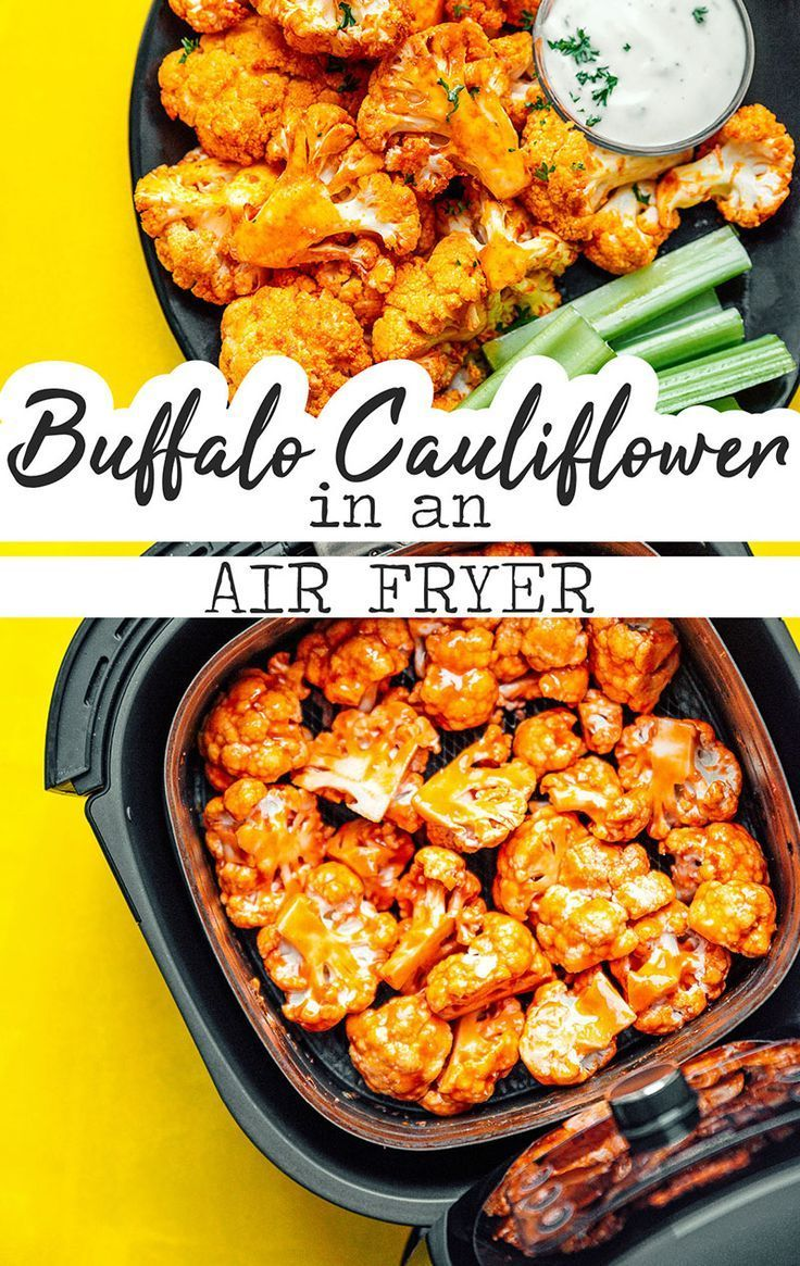 Air Fryer Buffalo Cauliflower Recipe Low carb
