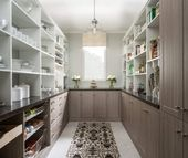 45 Gorgeous Walk-In Kitchen Pantry Ideas (Photos)   This large walk-in pantry features rustic... #largepantryideas