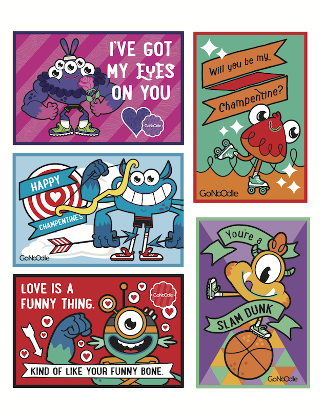 GoNoodle Valentines cards GoNoodle classroom valentines – Valentine Cards for Classroom