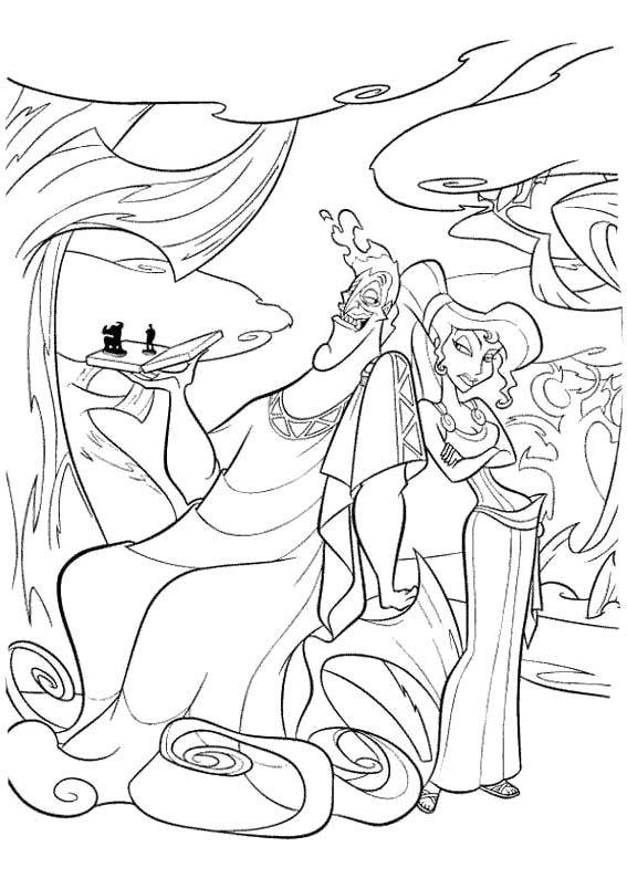 Hades Coloring Page   ralax printables   Pinterest   Colorear ...