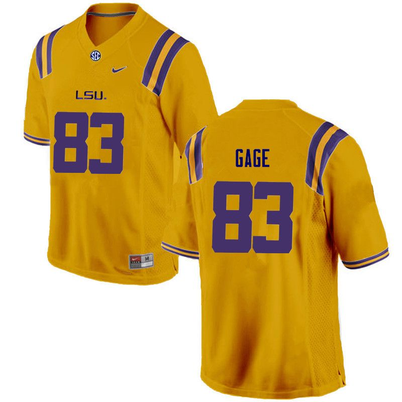 best website 4405b e89a4 Men LSU Tigers #83 Russell Gage College Football Jerseys ...