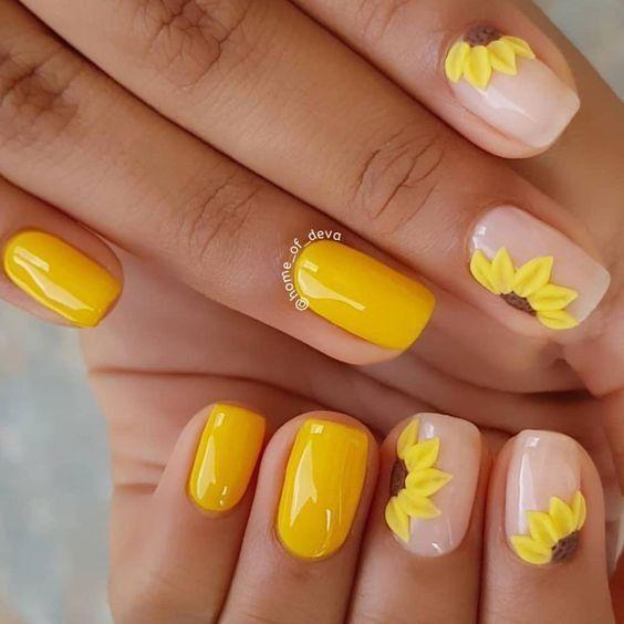 Hot Nail Designs For Short Nails W Sephora 10 Off 50 Square Acrylic Nails Yellow Nails Short Acrylic Nails