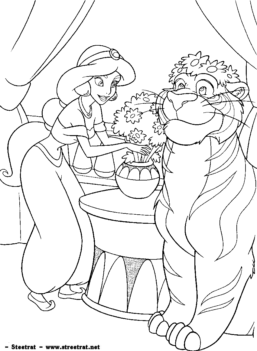 Disney coloring pages adults - Coloring Pages Disney Princess Coloring 5