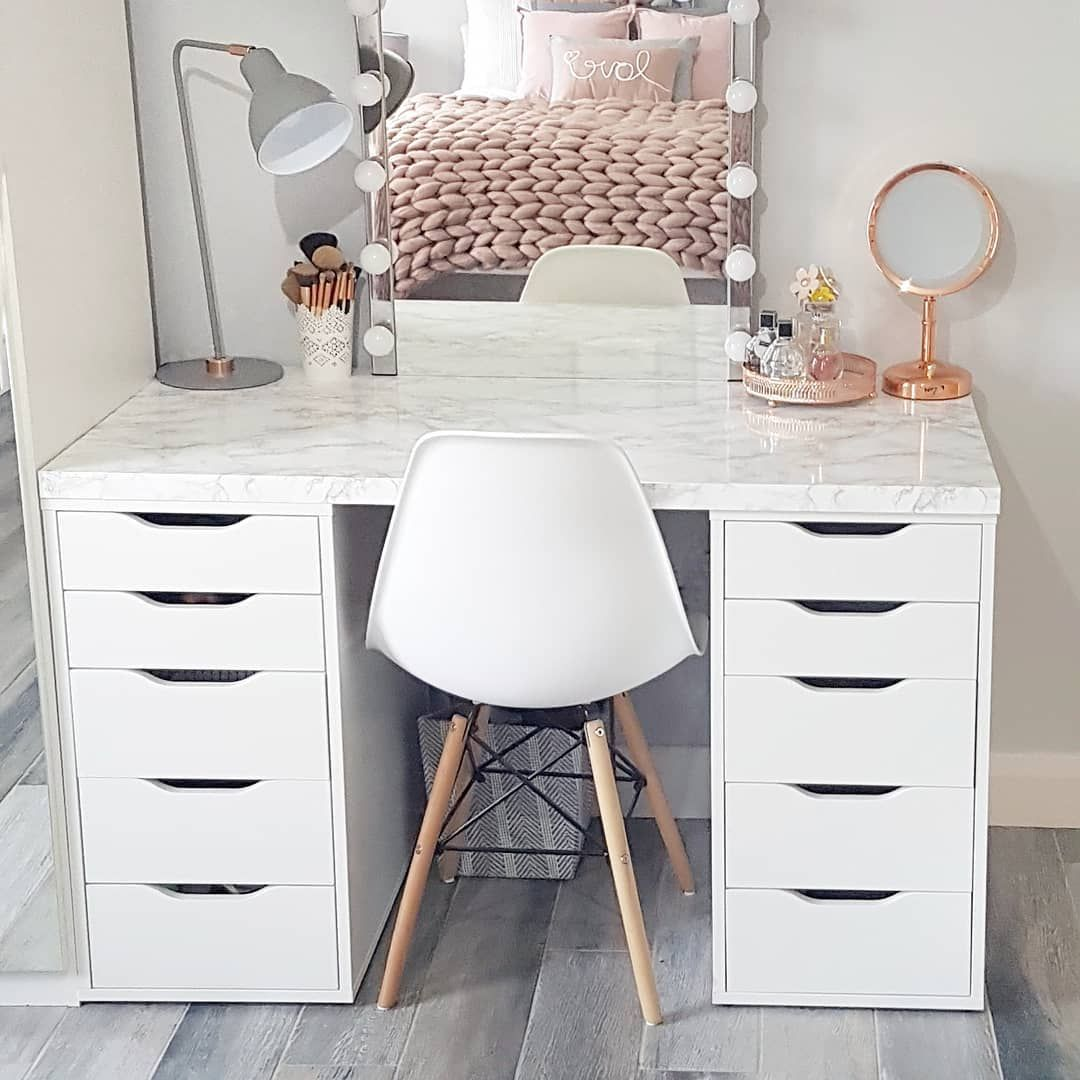 Lauren Alex Ourselfbuildni On Instagram A Month Ago Today We Had Just Arrived Home From Dressing Table Design Ikea Dressing Table Bedroom Dressing Table