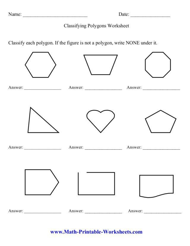 Pin On Education Worksheets Template Polygons worksheet 3rd grade