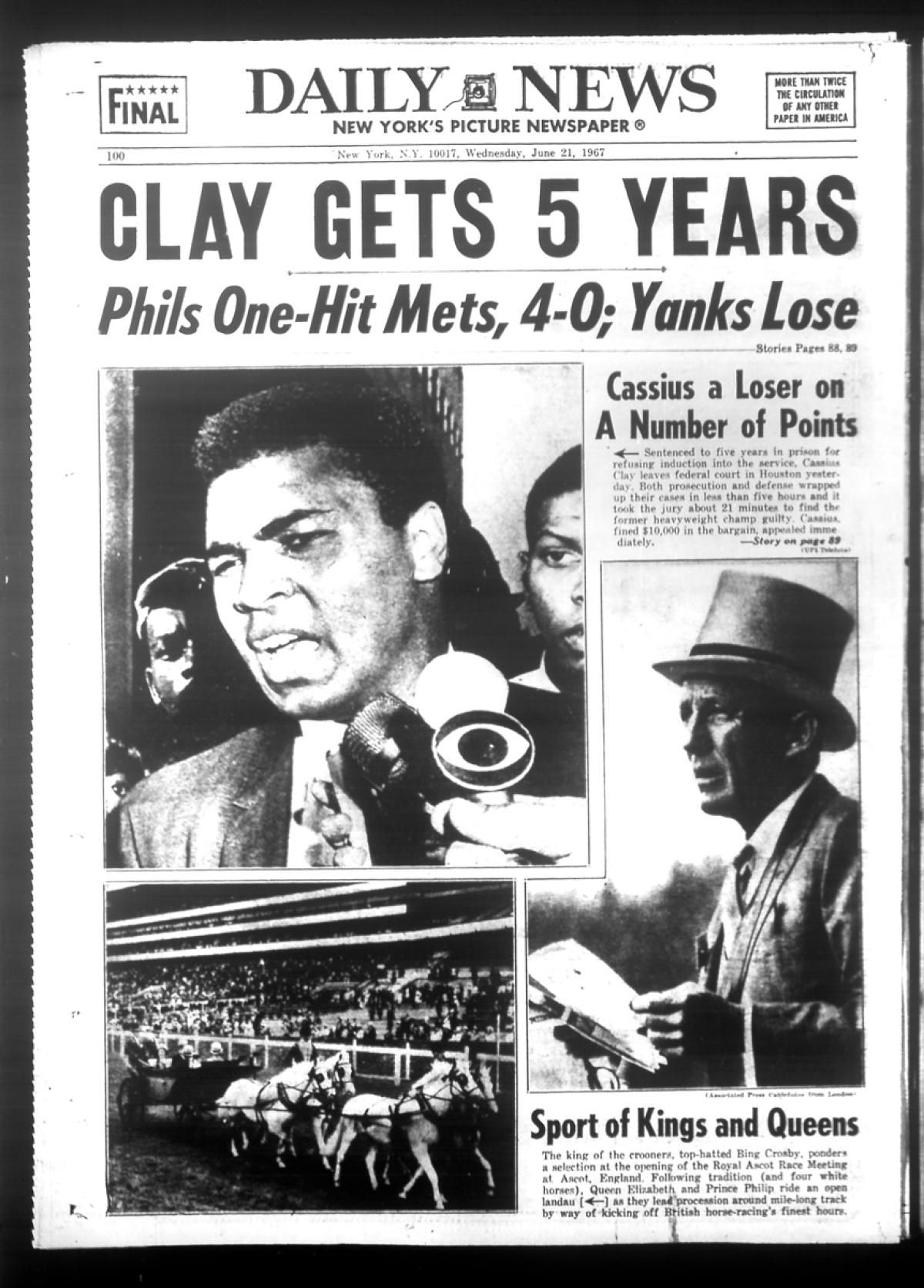 Cassius Clay Was Convicted By A Federal Court Jury After