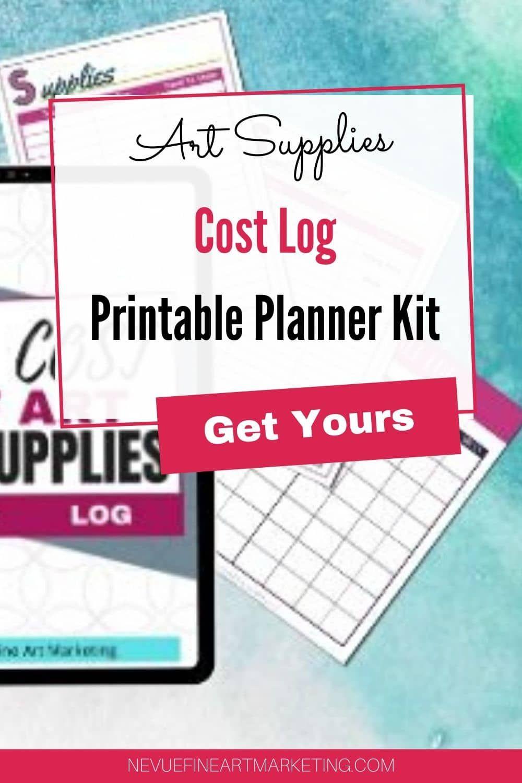 Supplies Cost Log Printable Planner Kit Printable