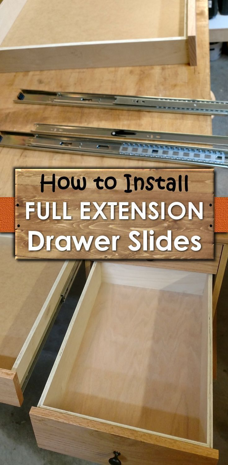 Photo of Install Full Extension Drawer Slides – Easy DIY – The Definitive Guide