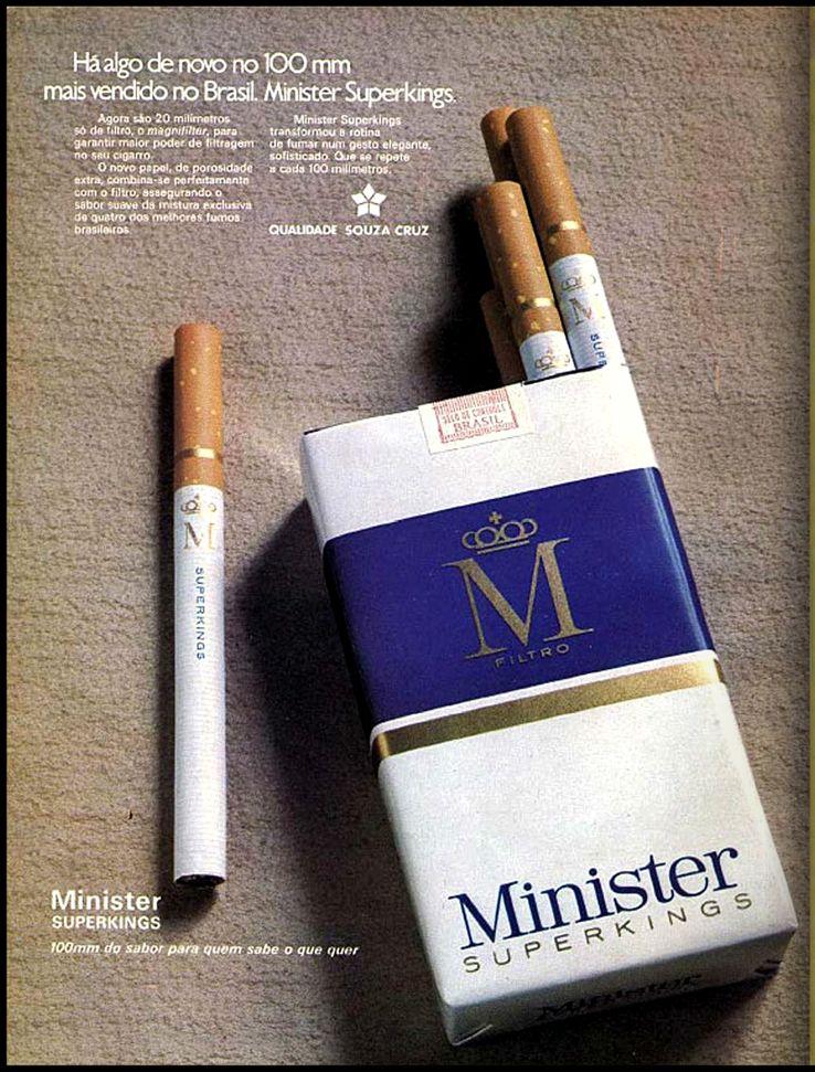 Famosos anuncio cigarros Minister 1973 | Antigas do brasil | Pinterest  VX71