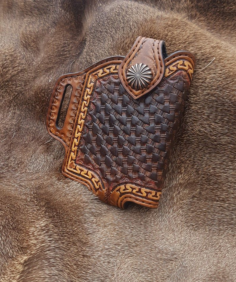 Handmade leather smartphone cell phone case for 8s 10s