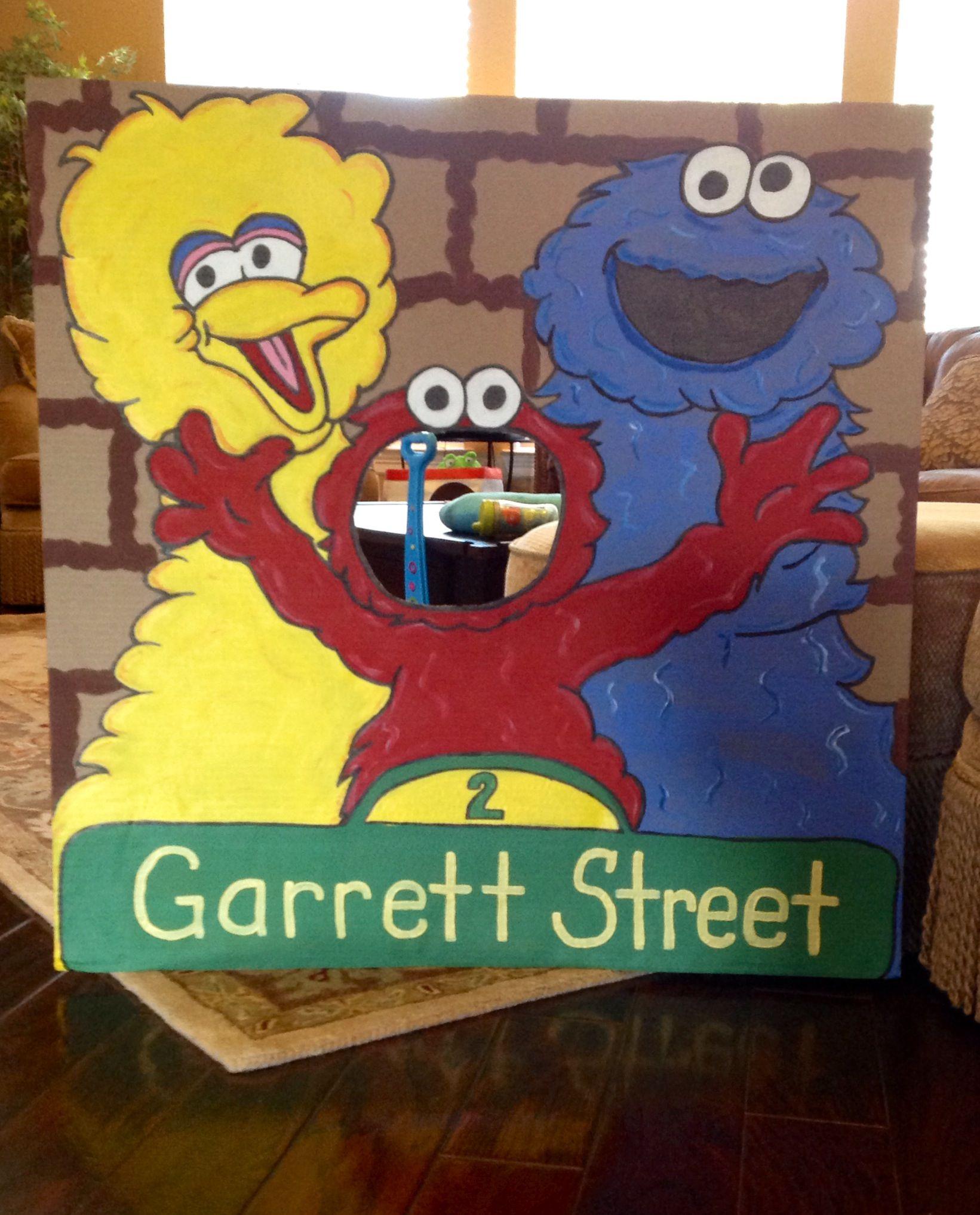 Sesame Street Theme Op Sign Birthday Party