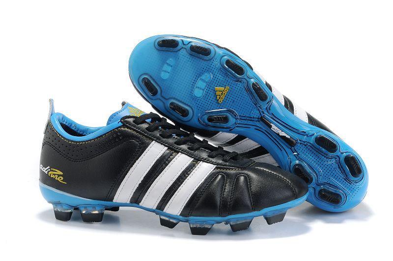 premium selection 5d81d 6bdd3 Chaussures de foot adidas adipure IV TRX FG Noir Bleu pas cher