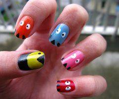 Pacman nail - Retro!