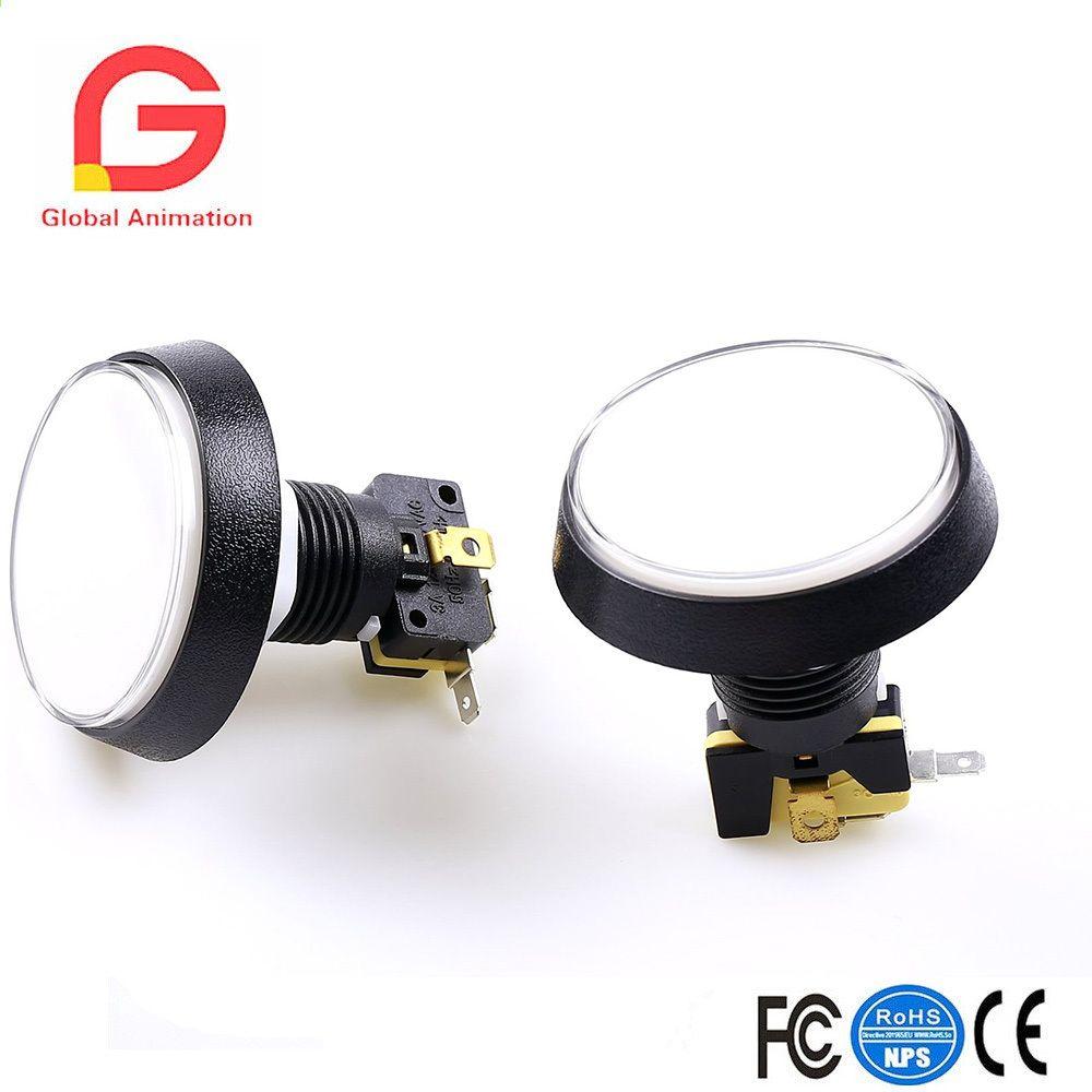 6 unids / lote 5 V 60 MM LED iluminado Arcade Pulsador con
