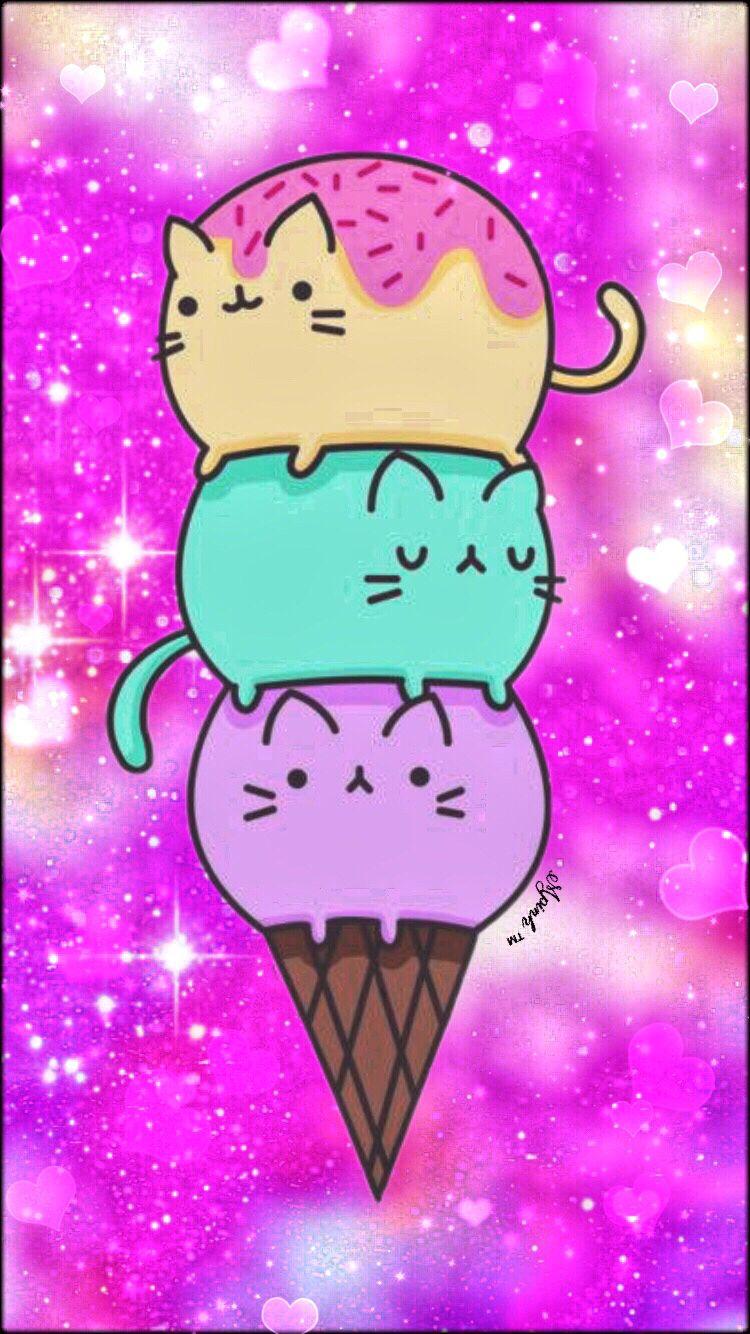 Kawaii Emoji Kittens Galaxy Wallpaper Cute Kawaii Drawings Emoji Wallpaper Galaxy Wallpaper