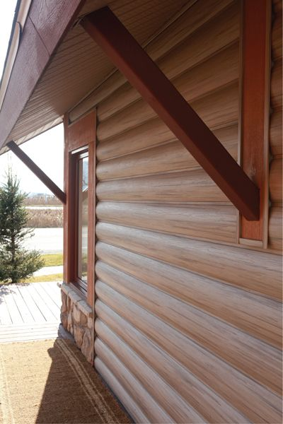 log home look from vinyl siding abtco home gallery media house