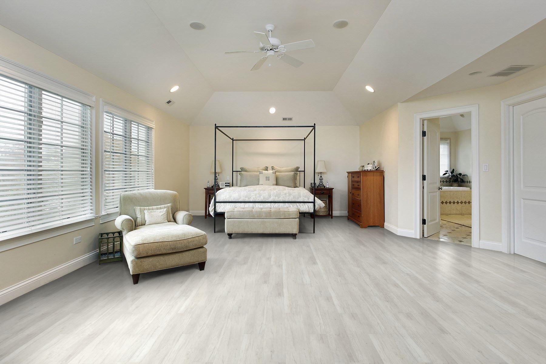 Coastal Cloud Laminate Flooring Oak Laminate White Bedroom Design Flooring