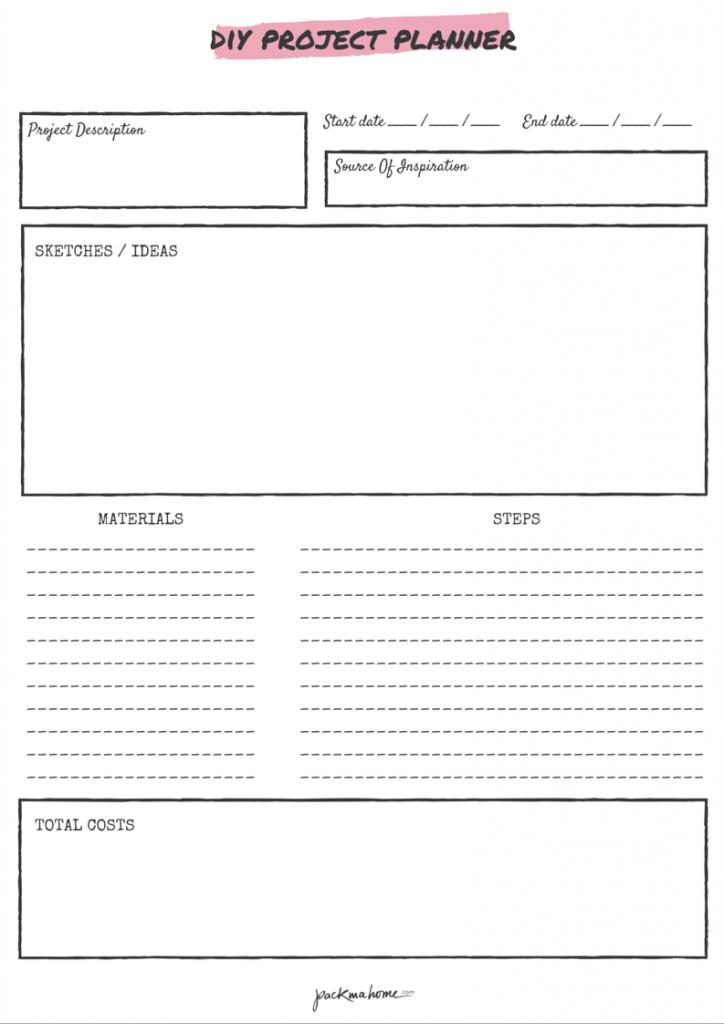 free printable diy project planner life planner pinterest