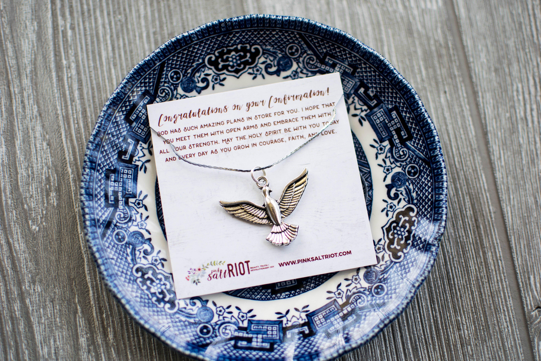 Catholic confirmation gifts holy spirit luxury jewelry