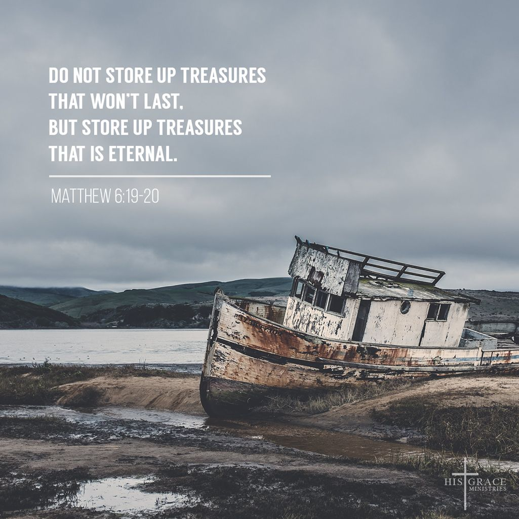 Our hearts are connected to our treasure. Store up your treasures not here on earth but in heaven. Our treasures should be kingdom-focused! Thank you Lord for your words which constantly remind us of what is more important and what we need to focus.