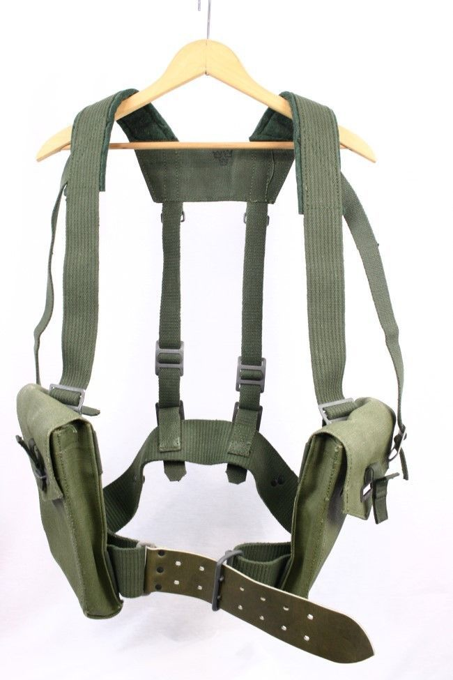 vintage 80s swedish military army harness field pack pouch utility