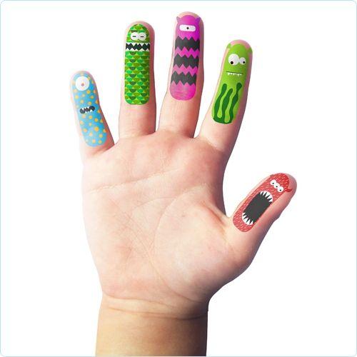 NPW Fingertattoos Monster -  www.lolakids.de