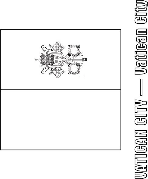 Vatican City Flag Coloring Page Flag Coloring Pages Coloring