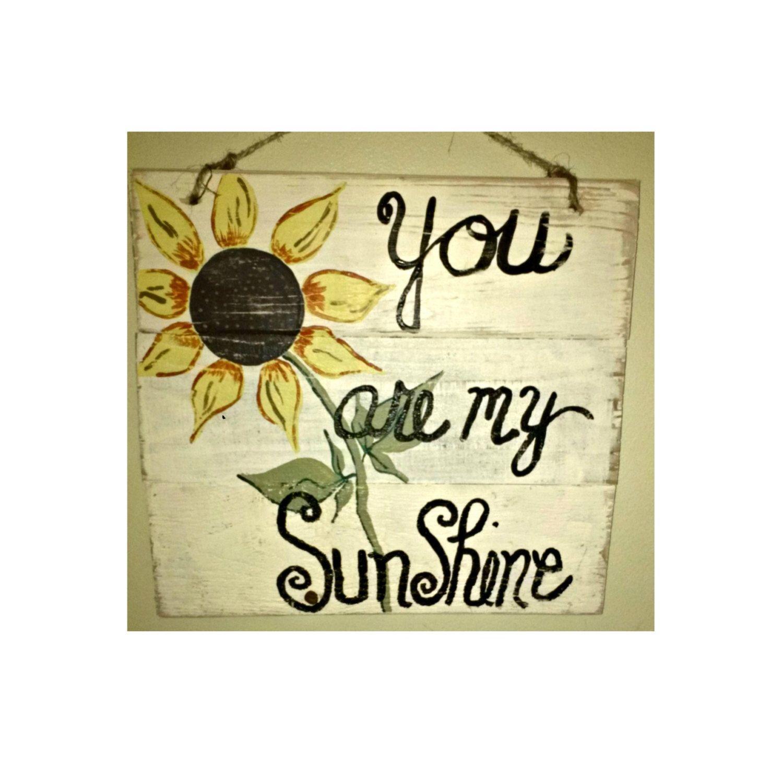 Handmade sunshine wood sign custom wood sunshine sign hand handmade wood sign custom wood sunshine sign personalize sign hand painted sign wood sign under 20 gift for women gift for baby negle Images