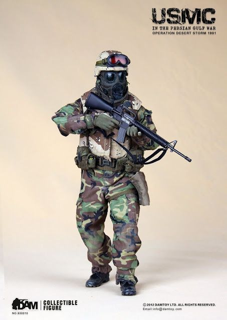 onesixthscalepictures: DAM Toys USMC in the Persian Gulf War - Operation Desert Storm 1991 : Latest product news for 1/6 scale figures (12 i...
