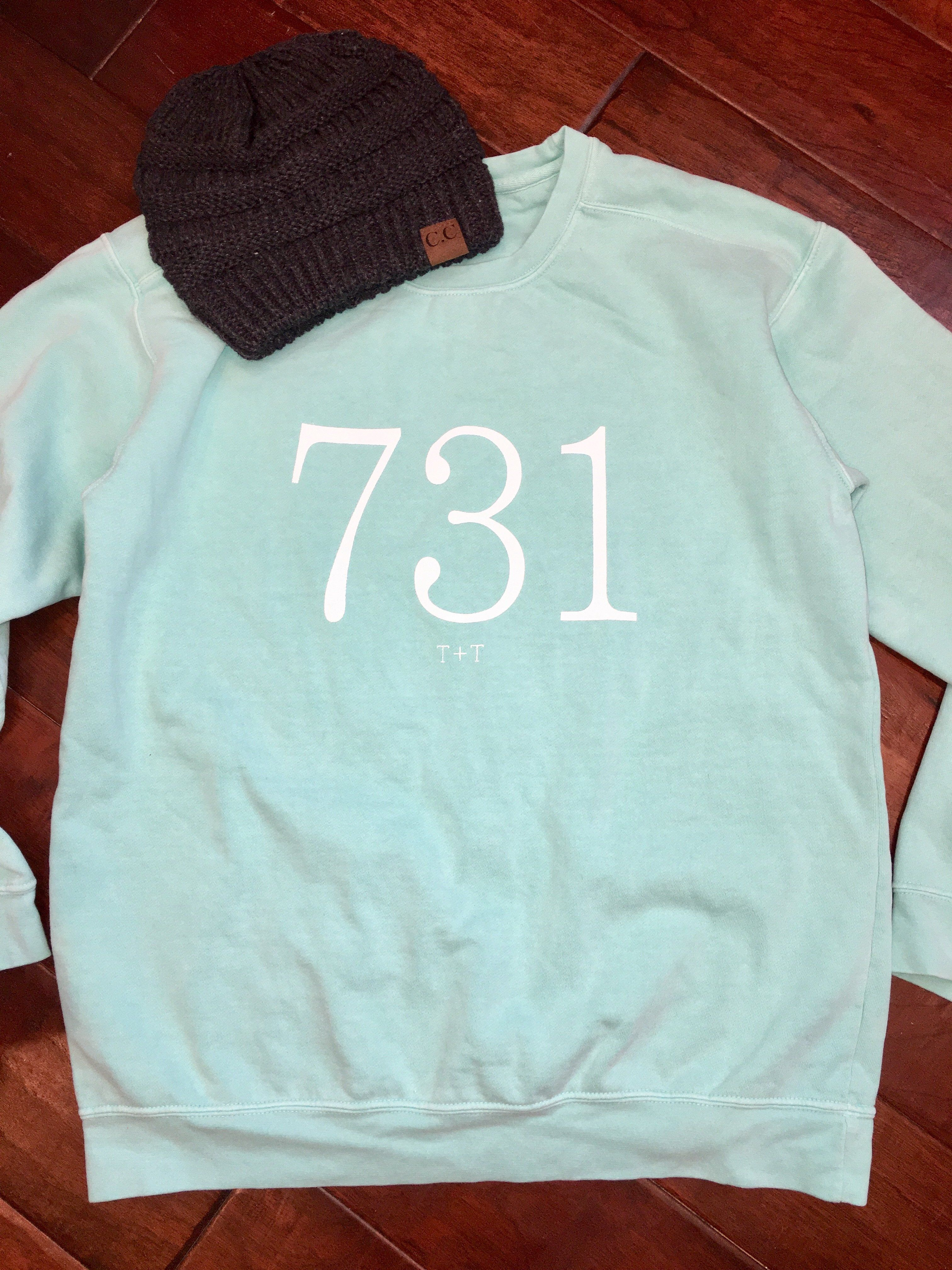 Comfort Colors Sweatshirt With White Ink Unisex Sizing S 3xl