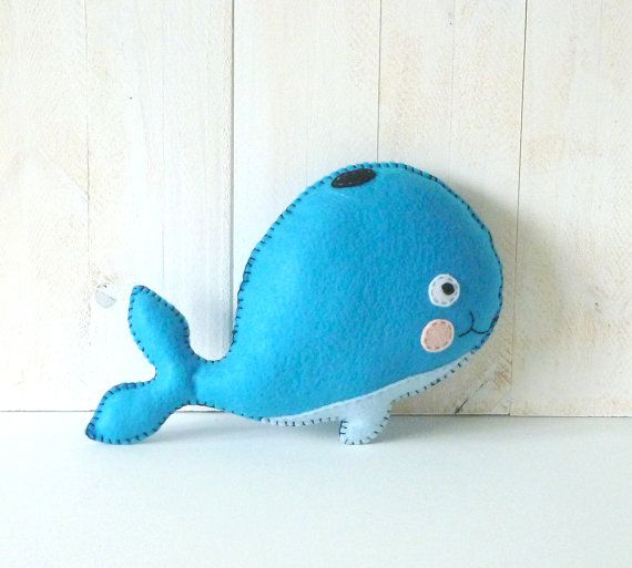 Whale Stuffed Animal Pattern, Whale Hand Sewing Pattern, Plush Whale ...