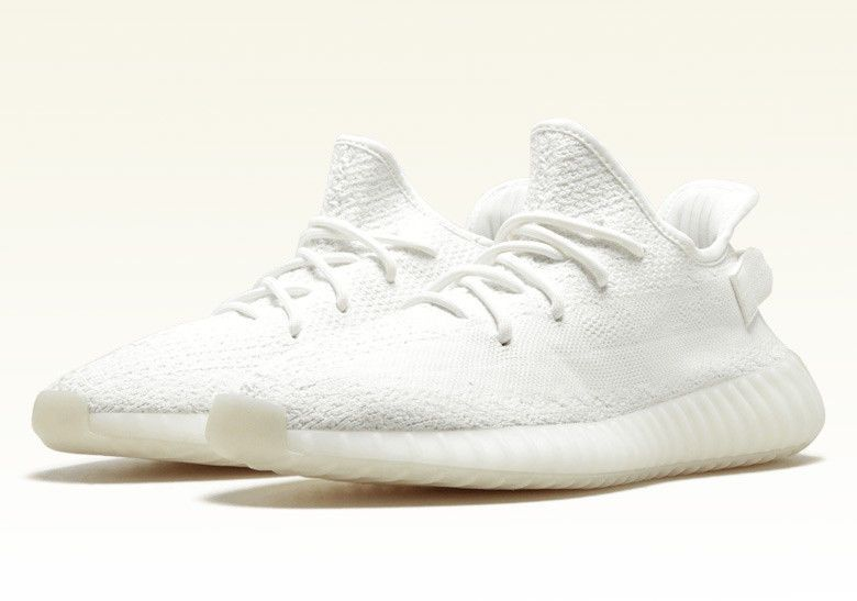 adidas Yeezy 350 Boost V2 All White detailed look | Dead Stock