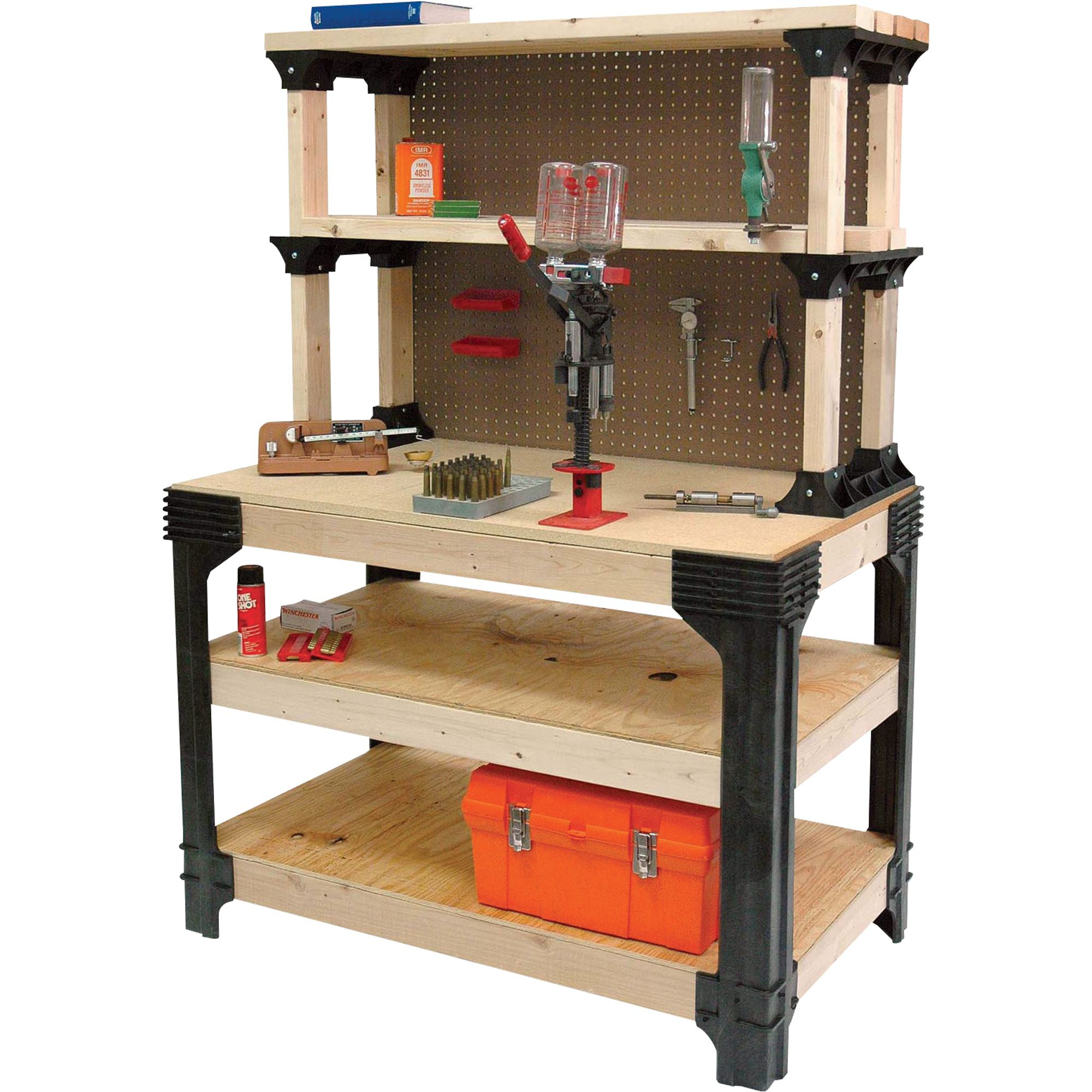2x4 Basics Anysize Workbench Kit With Shelflinks Model 90164mi 2x4 Basics Rolling Workbench