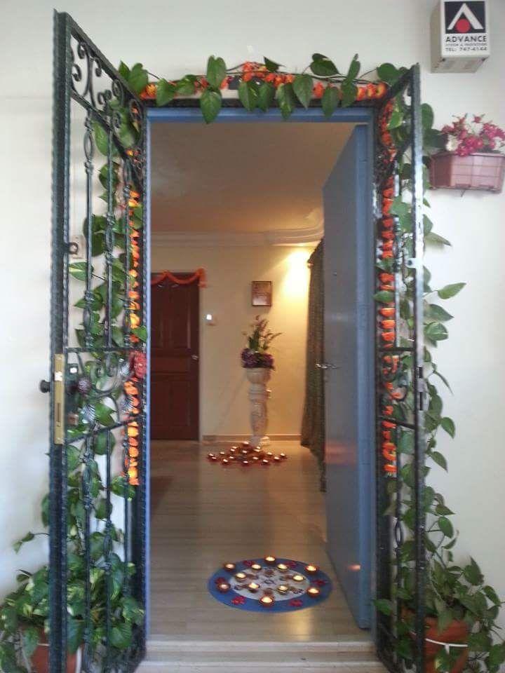 Diwali decorations house main door indian home decor also top pinterest rh