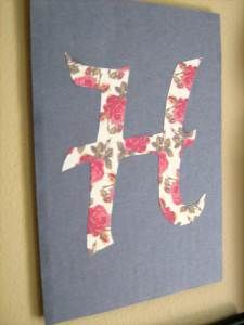 Letter Silhouette by This Handmade Circus