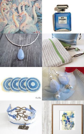 Neutral Blue by Tatin on Etsy--Pinned with TreasuryPin.com